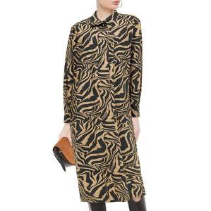Ganni Animal Print Cotton Dress